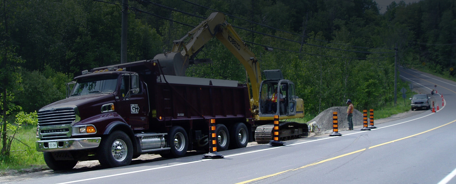 Green's Haulage Road Construction in Huntsville, Muskoka, Ontario